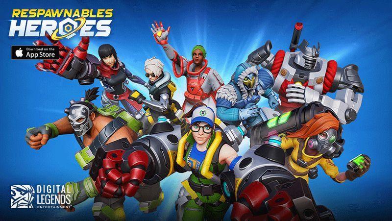 Digital Legends Entertainmentの最新作『リスポーナブルズ・ヒーローズ』配信!4対4のPVPが楽しめる戦略ヒーローアクションゲーム!