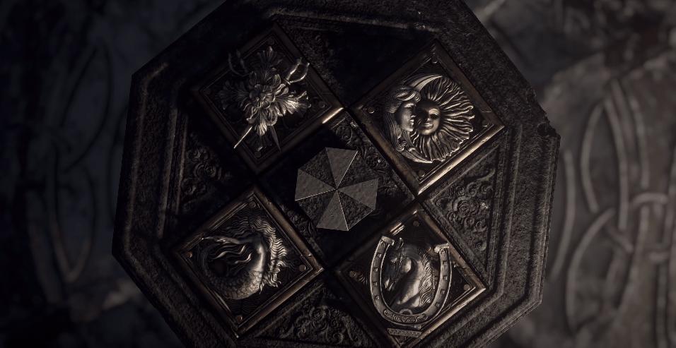 アンブレラ社のマークと4つの紋章
