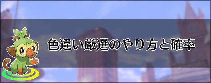 違い 厳選 盾 色 剣 【雑記】色レジギガス厳選のススメ【ポケモン剣盾】