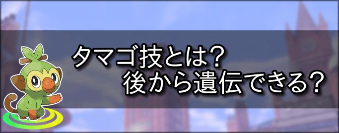 ソード タマゴ 技 ポケモン