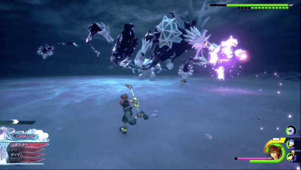 Kingdom Hearts 3 Ice Wolf Ice Blast